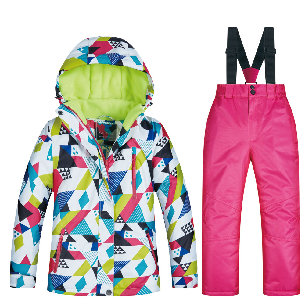 New Children's Ski Suit Winter Children Windproof Waterproof Super Warm Colorful Snow Ski Jackets And Pants Girls Winter Jacket