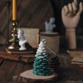 New DIY 3D Christmas Tree Decoration Silicone Candle Mold Form Handmade Resin Clay Crafts Moulds Decoration Tools Supplier