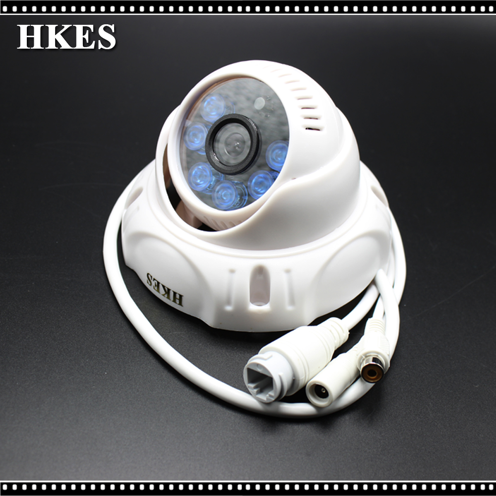 2pcs/lot Free Shipping Indoor IR Dome IP Camera with microphone 2 pcs lot