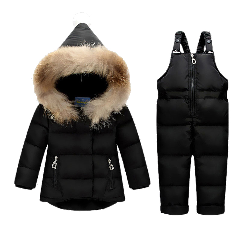цены на Baby Sports Winter baby Boy Clothing Set Duck Down Children Jacket For Girl Coat Overalls Warm Jacket Kid Girl Clothes Set в интернет-магазинах