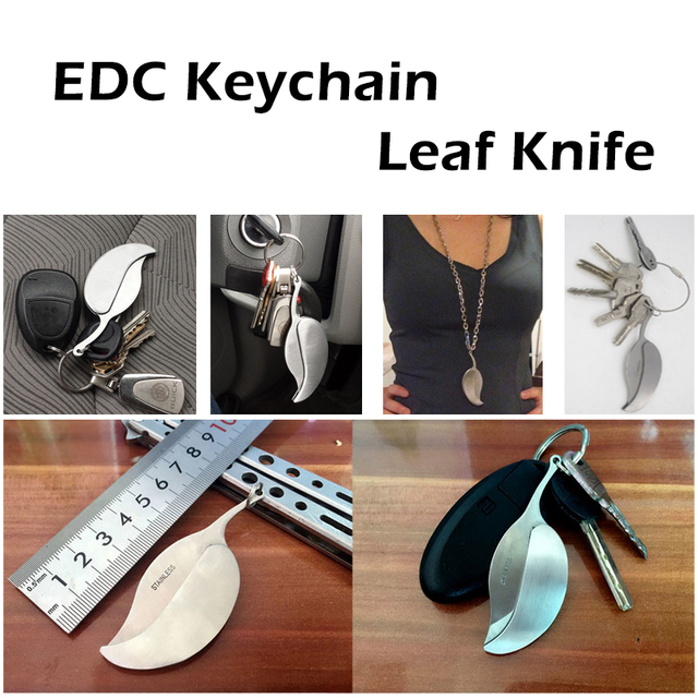 Outdoor Stainless Steel Leaf Knife Portable Tool Mini Fruit Knife Pocket Folding Knife Survive kit Camping Hiking Wholesale