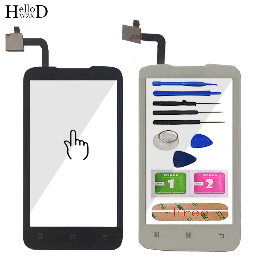 HelloWZXD 4.0'' Front Outer Glass For Lenovo A316 A316i Touch Screen Glass Digitizer Panel Lens Sensor Flex Cable Tools Adhesive