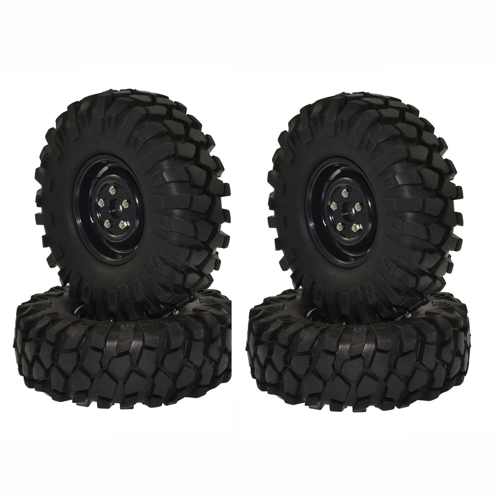 1/10 RC Rock Crawler 1.9 108mm Tires and Wheels for Axial SCX10 RC4WD D90 1:10 Rc Crawler Car 1 10 inflatable tires 4p set air pneumatictires with alloy beadlock wheels set f rc crawler rock crawler tires toy cars parts