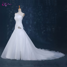 Waulizane Charming Mermaid Wedding Dresses Chapel Train