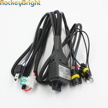 Rockeybright H4 Bi Xenon lampadina del faro controller HID lampadina allo xeno H4 hi/lo faro relè cablaggio del cavo di cablaggio per h4 lampada allo xeno