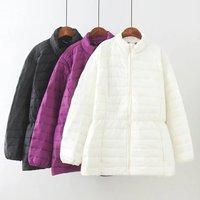 Autumn Winter Jacket Women Oversized Coat Cotton Jacket Outwear Ultralight Thin Coat Female Plus Size 36