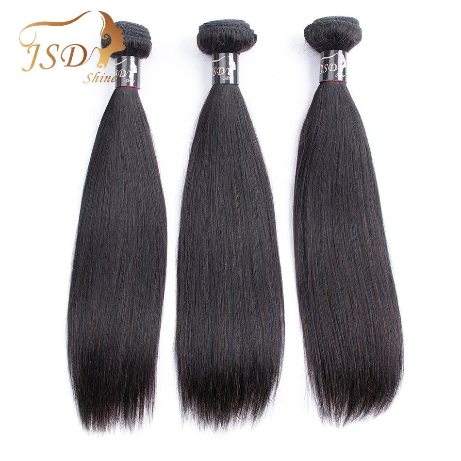 Burmese Straight Hair Extensions 3 Bundles Deal Natural Black 100% Human Hair Weave JSDshine Non Remy Hair Extension 8-28 Inch