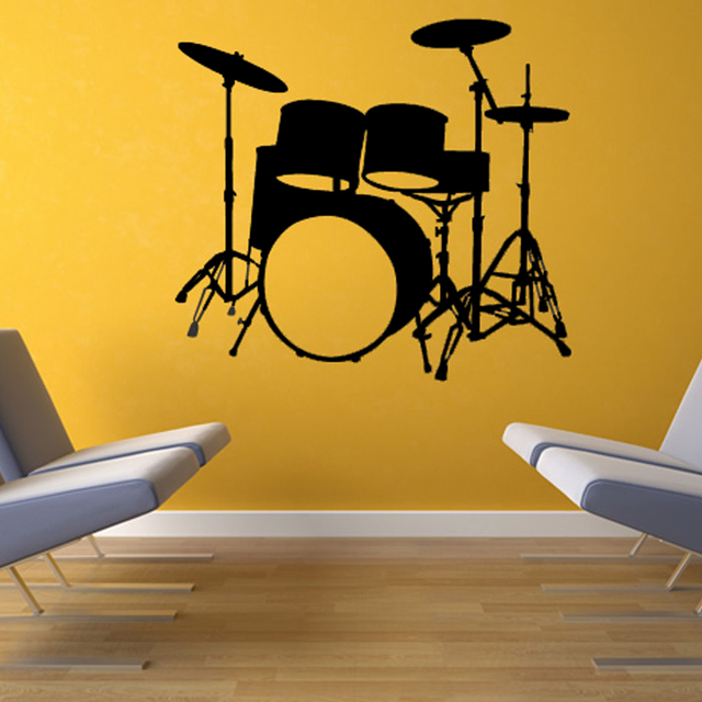 Musical Instruments Drums Wall Decal Home Decor Vinyl Removable ...