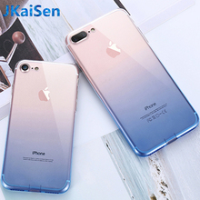 Ultra-Thin Transparent TPU Soft Back Case For iPhone 5 5S 6S 7 8 Plus Sexy Gradient Case For iPhone X XR XS MAX Cover Coque Capa цена