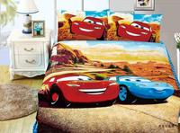 Lightning McQueen Cars Comforter Bedding Sets Single Twin Size Quilt Duvet Covers Sheets Cotton 400TC Children