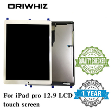 New Arrival Black White For iPad Pro 12.9 Tablet LCD Screen Display Touch Panel Digitizer Assembly without Homebutton and Glue