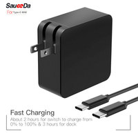 Fast charging 65W Type-C PD US plug Laptop Adapter Charger For xiaomi air for Macbook 12 13 inch for DELL XPS 12 X1 Accessories