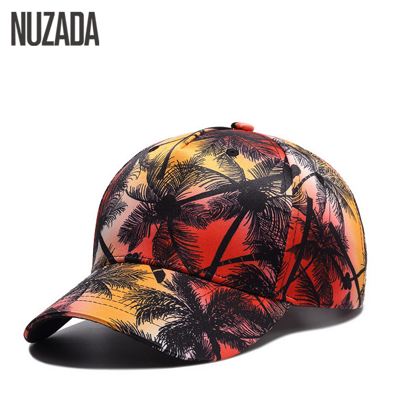 Brand NUZADA Color Printing   Cap   Men   Baseball     Caps   For Women Snapback Bone Hip Hop Europe USA Polyester Cotton Hats Summer