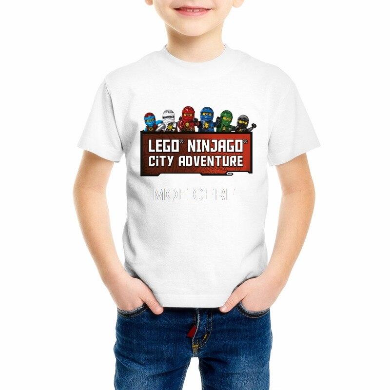 2018 New Summer Childrens Clothing Baby Boys/Girls Sports T-shirt Ninja Ninjago Cartoon T-shirt Kids Tops Tees T Shirts Z13-1