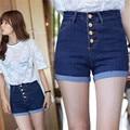 2016 Горячих Продажи Мода женские джинсы Летом Высокой Талии Стрейч Джинсовые Шорты Корейский Случайные Плюс Размер C611