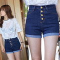 2016 Hot Sale Fashion women's jeans Summer High Waist Stretch Denim Shorts Korean Casual Plus Size C611