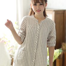 Summer Maternity Pajamas Set Nursing Clothes For Pregnant Women Lattice Luxury Soft Cotton Maternity Nightgown Nursing 60M0058