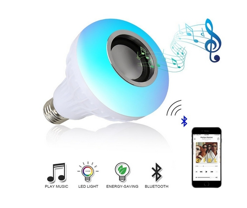 Music led light bulb with bluetooth speaker rgb e27 built for Led light bulb with built in bluetooth speaker
