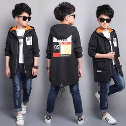 2017 new children's clothing spring boy jacket children's windbreaker in the long section of the big boy Korean shirt boy spring