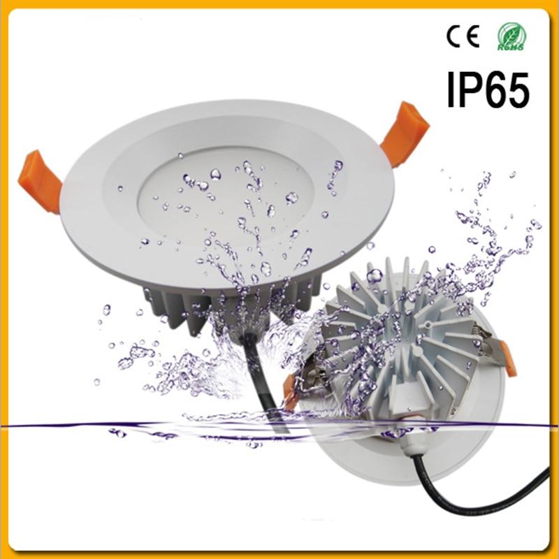 1 PCS Étanche LED Downlight IP65 LED Downlight Spot Light7W/9 W/12 W/30 W/50 W/60 W Super Lumineux AC220-265V Encastré Au Plafond Lampe