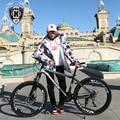 De alta calidad de 26 pulgadas bicicleta de acero 21 velocidad de marco de aluminio bicicleta de montaña skateboard pedal de primavera amortiguador de doble disco sujetador