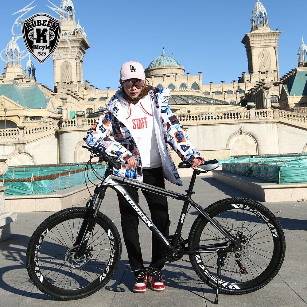 Di alta qualità 26 pollici in acciaio della bici 21 velocità telaio in alluminio mountain bike skateboard pedale olio ammortizzatore a molla ammortizzatore a doppio disco reggiseno