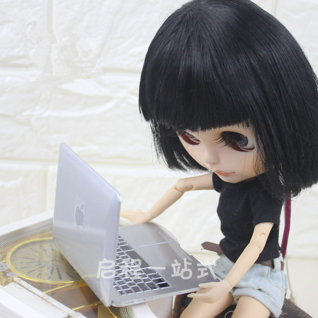 NEW Doll House Accessories BJD Scene MINI Laptop Computer Simulation Notebook For Blyth Doll Accessories Pullip Doll Air Mirror