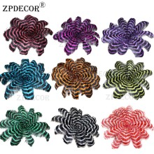 ZPDECOR 70-75 CM Striped Ostrich Feathers Mix Color