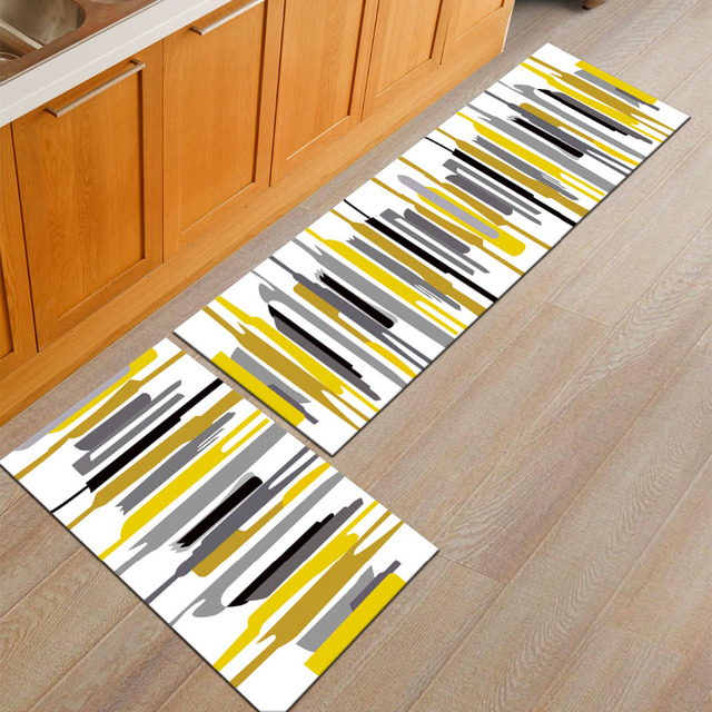 50X80+50X160CM/Set Nordic Brief Kitchen Mat Home Decor Entrance Doormat Anti-Slip & 50X80+50X160CM/Set Nordic Brief Kitchen Mat Home Decor Entrance ...