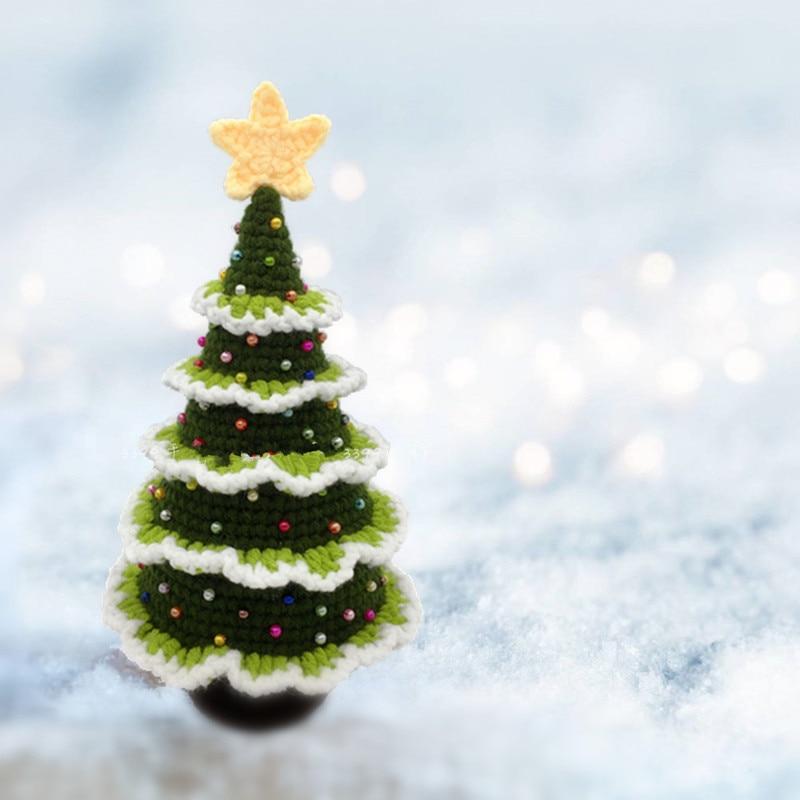 Ручная работа Рождественская елка вязание крючком DIY ремесло Вязание   