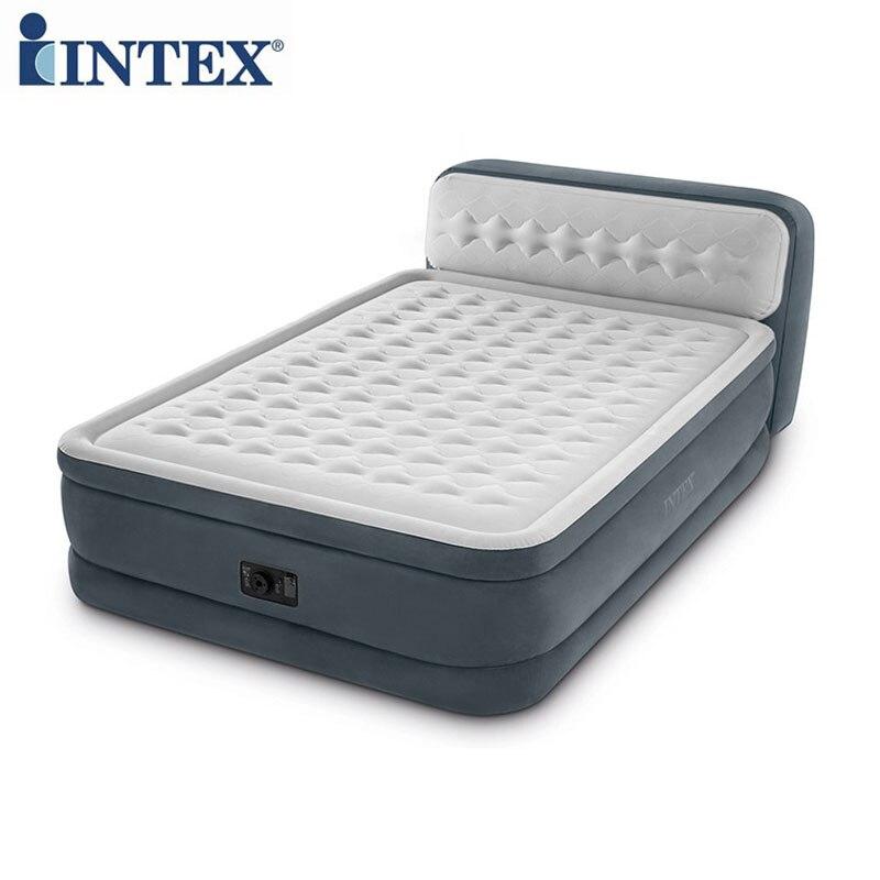 INTEX 64448 152*236*86 CM Double personne Double étage matelas avec dossier tapis gonflable matelas pneumatique