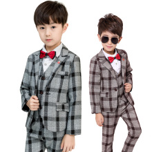 Flower Boys Formal Blazer School Suit Wedding Kids Jackets Vest Pants Tie Clothing Set Children Prom Costume Dress Groom Suits кукла кен из серии игра с модой в асс dwk44 barbie