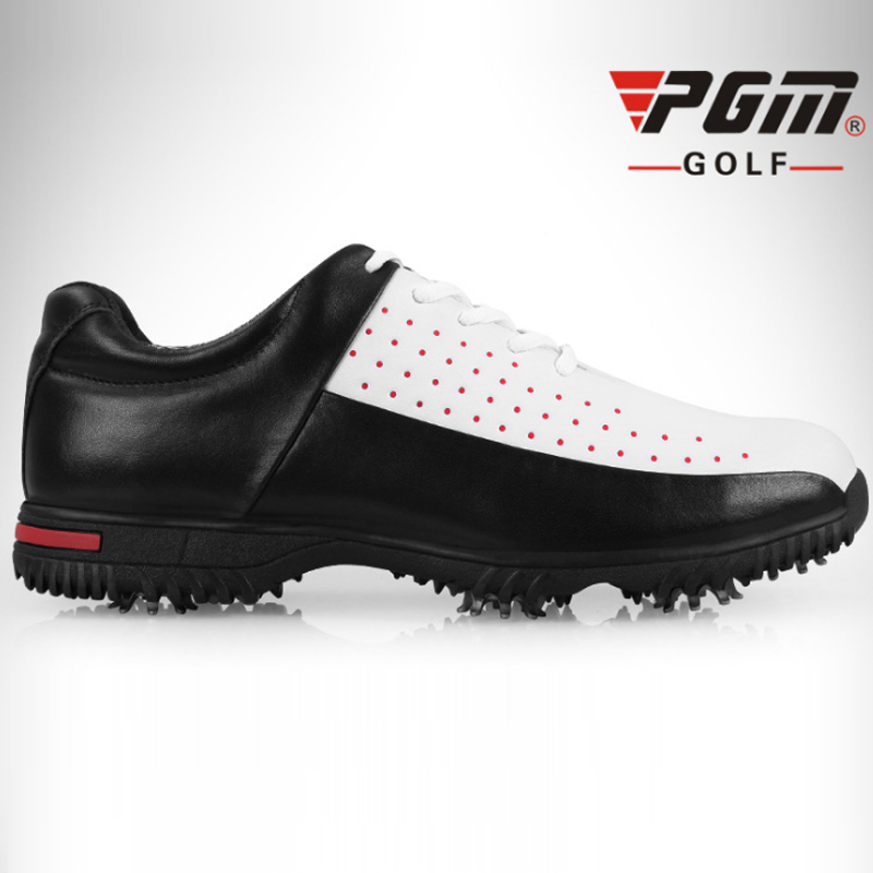 PGM Man Golf Shoes Professional Sneaker Non Slip Sport Original Shoes PU Waterproof Men Golf Shoes Top Quality Shoes For Men pgm men golf shoes breathable athletic sneaker plus size 39 46 mesh sport shoes pu waterproof professional golf shoes for men