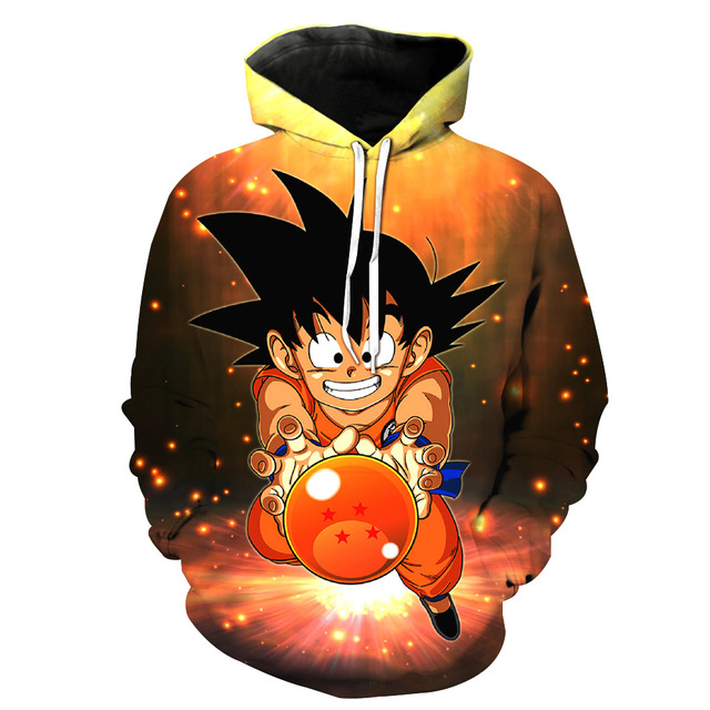 Anime Dragon Ball Z Goku 3D Sweatshirt Hooded