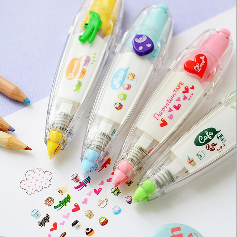 Coloffice 1PCs Cute Novelty Decorative Correction Tape The Print Of A Diary Notebook Correction Fluid School Office Supplies 4m
