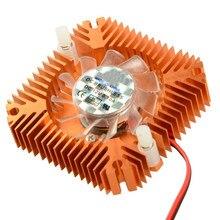 JETTING-ventilador de refrigeración de nieve de aluminio, de 55mm disipador térmico, 2 pines, compatible con PC, CPU, tarjeta de vídeo VGA, VC899, P18, 0,25