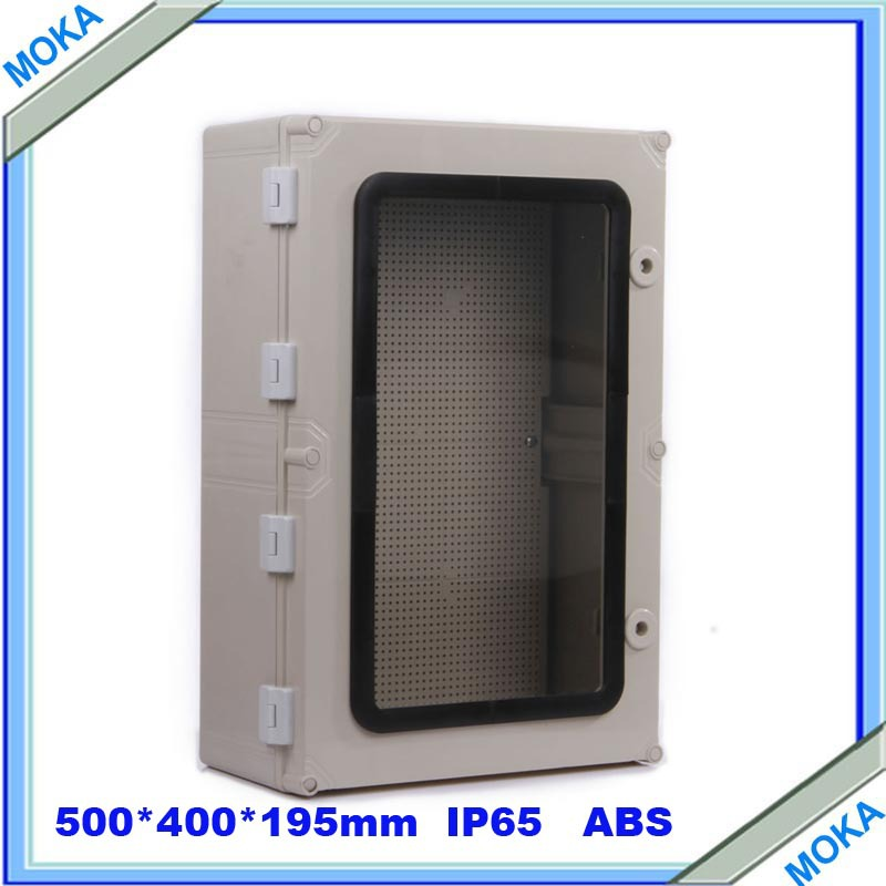 ФОТО Quality Product ABS Material Transparent Cover IP65 Standard waterproof enclosure boxes 500*400*195mm