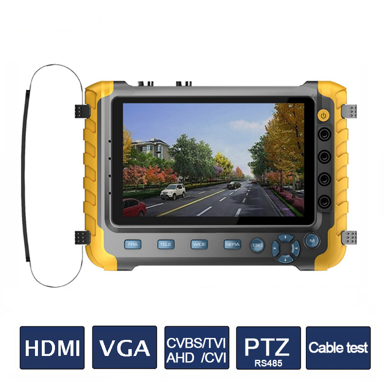 5MP 4IN1 AHD TVI CVI CVBS Camera CCTV Tester 5 Inch LCD Monitor Built in Battery CCTV Camera Tester Audio RS485 HDMI & VGA Test