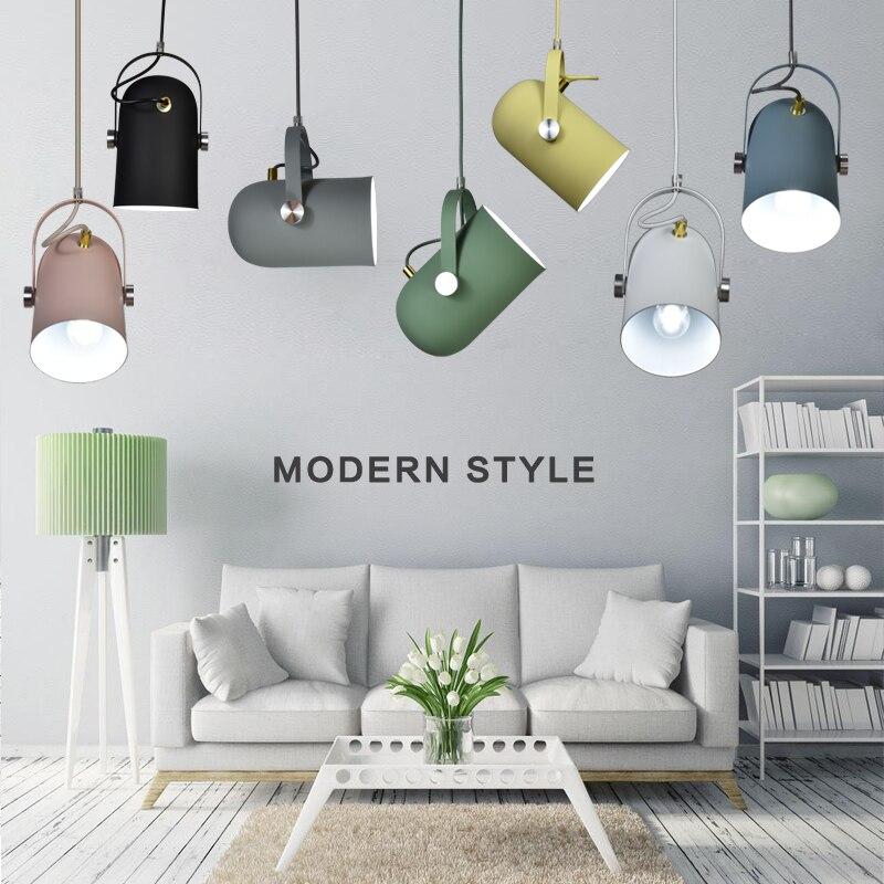 Nordic современный E27 подвесные светильники одного фара Декор светильник Droplight