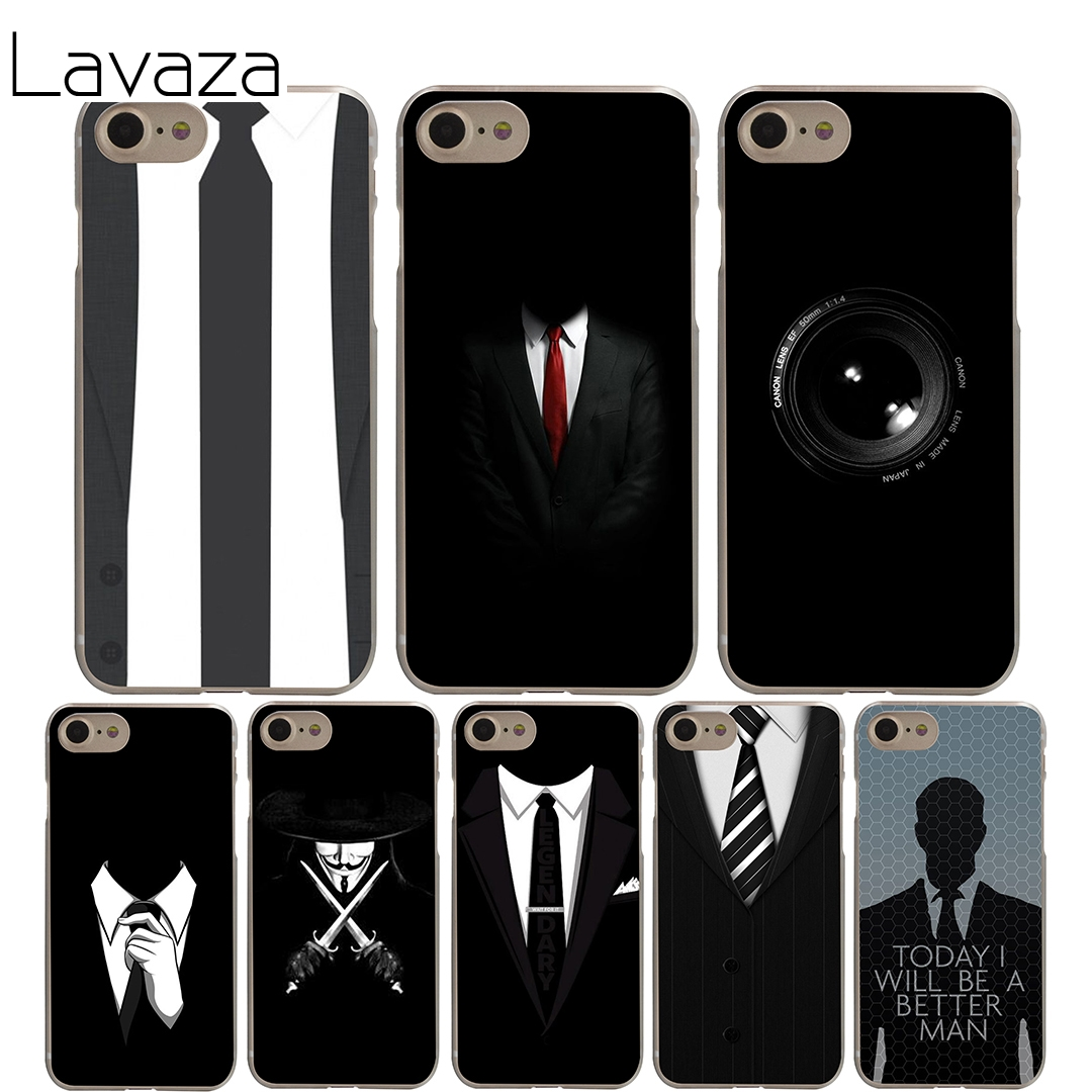 Lavaza Dark Suit Mystery Man Cover Case for iPhone X 10 8 7 6 6S plus Cases for Apple 5  ...