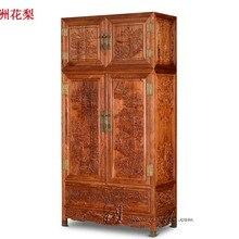Американские страны классические для шкафа палисандр плоские раздвижные двери Garderobe твердой древесины домашняя мебель для спальни деревянные ящики шкаф