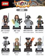 9eb36512e88ec Single Sale Pirates of the Caribbean Jack Sparrow Ghost Zombie Captain  Hector Barbossa Building Blocks Children