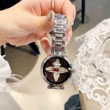 2019 Fashion Top Brand Luxury Watch Women Stainless Steel Dress Waterproof Crystal Watches Quartz Wrist