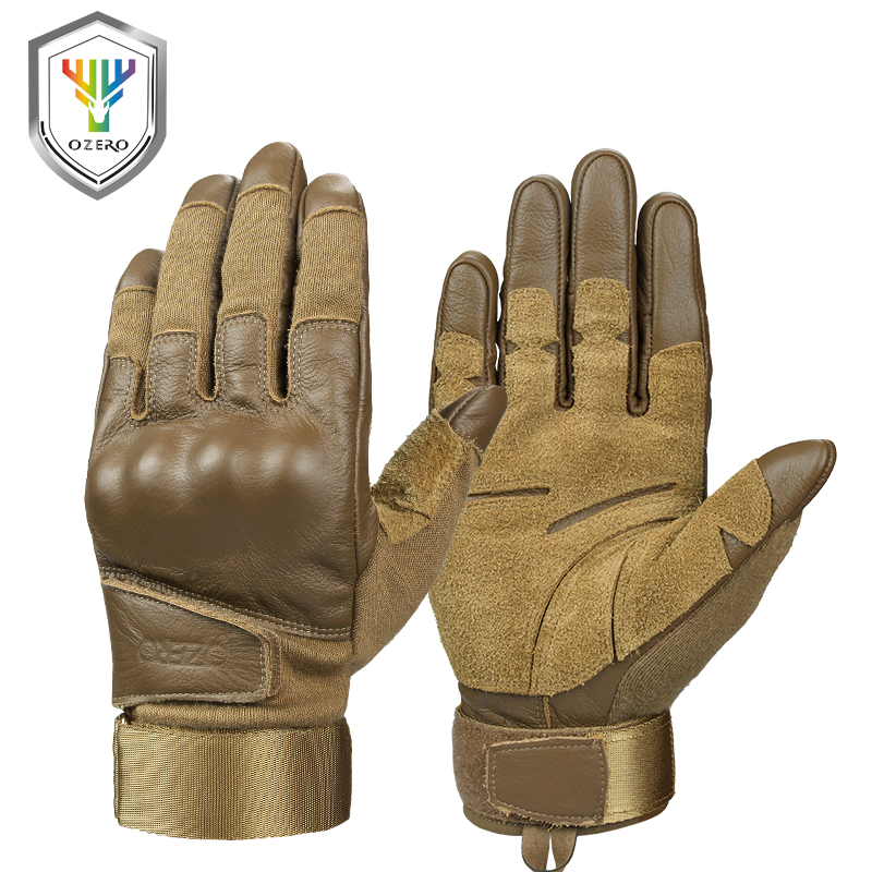 OZERO New Arrival Work Gloves Men's Cowhide Leather Genuine Driver Security Protection Wear Safety Workers Welding Moto Gloves