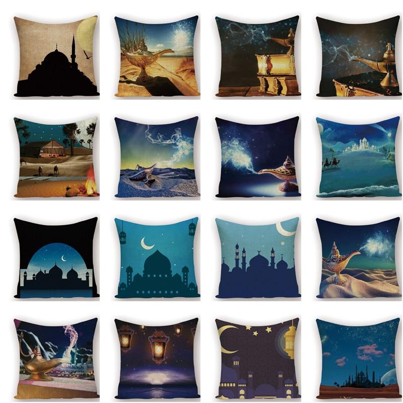Home Decor Xunyu Ramadan Cushion Cover Eid Mubarak Pillow Cases Polyester Pillowcase Home Decorative Throw Pillow Cover For Sofa Kq58