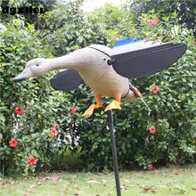 Wholesale Russia Outdoor Hunting Decoys Remote Control 4*AA Battery Hunting Duck With Magnet Wings Spinning