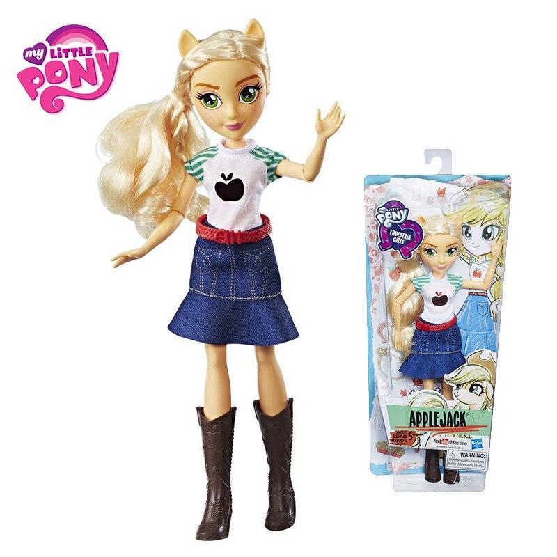 My Little Pony Toys Equestria Girls Rainbow Dash Fluttershy Action Figures Classic For Children Baby Birthday Gift Girl Bonecas