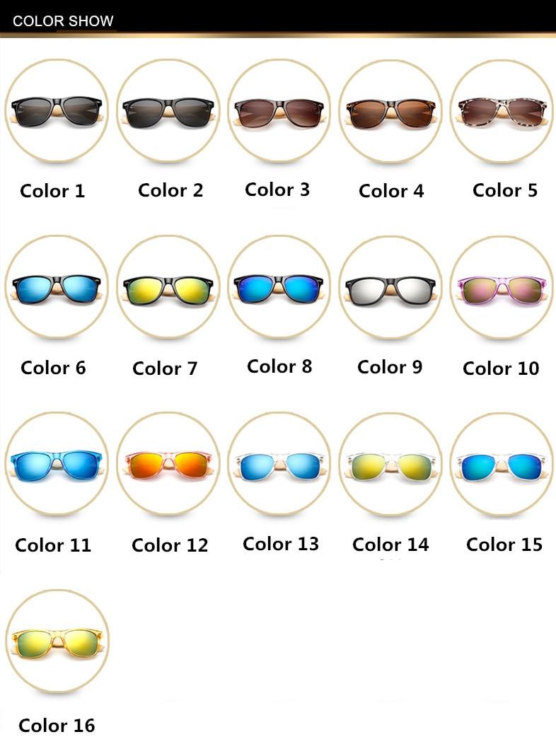 Bamboo Sunglasses Men Women Travel Goggles Sun Glasses Vintage Wooden Leg Eyeglasses Fashion Brand Design Sunglasses Male Female 9