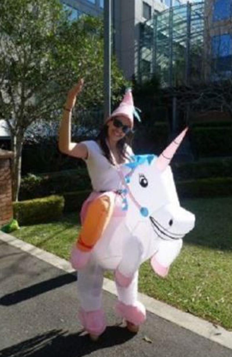 Halloween Pink Unicorn Inflatable Rider Costume Wonder -2745