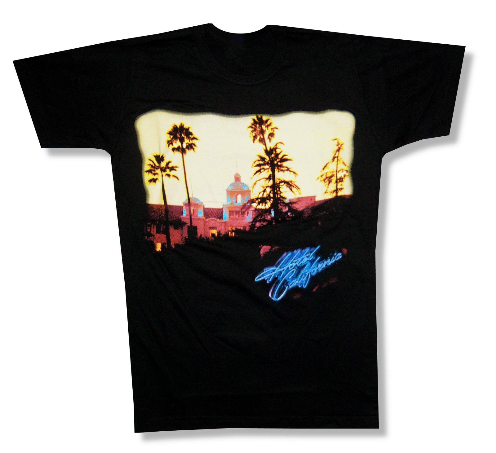 Design t shirt rollerblade - Eagles Hotel California Album Cover Black Slim Fit T Shirt New Official Band